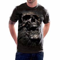 Camisa 3d Caveira Breakthrough Tm - Camiseta Estampa Total