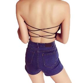 Crop Top Brasier Blusa Corpiño Sexy Espalda Dama Moda 47