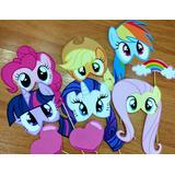 10 Photo Props Fotos Divertidas Cumple My Little Ponys !