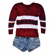 Blusa De Frio Feminina De Lã Tricot