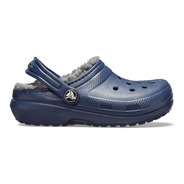 Crocs Originales Niños Corderito Classic Lined Navy Charcoal