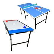 Combo Ping Pong Familiar Plegable + Mesa Tejo Aire Metal