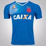 Camisa Vasco Da Gama Goleiro Umbro 2017 Azul Nova Original