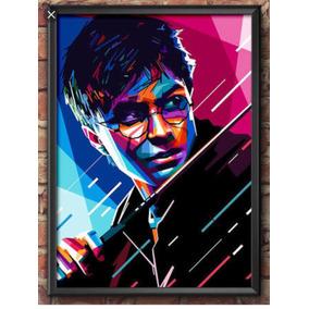 Quadro Harry Potter Estilo Poster Tamanho 30x42