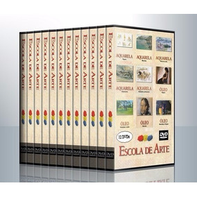 Curso De Desenho E Pintura 12 Dvds Editora Globo