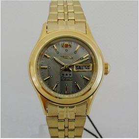 Relógio Orient Automático,feminino Folhado A Ouro Fnq0400fk9