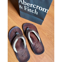 Chinelo Abercrombie & Fitch Couro Masculino Flip Flops Novo