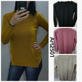 Sweaters Larguitos Ideal Para Calzas Stampa Woman