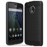 Motorola Moto C Protector Tpu Textura Fibra Carbono