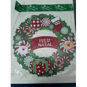 Guirlanda De Natal Para Porta Feliz Natal Kit 3pcs
