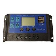 Regulador De Carga P/ Paneles Solares 12v 24v 20 Amper Usb