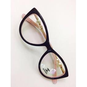 Armação Perola Chanel Oculos Em Acetato Gatinho