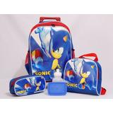 Kit Mochila Sonic Rodinhas- Frete Grátis!!!
