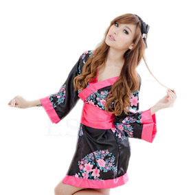Kimono Robe Japones Floral Sexy C191