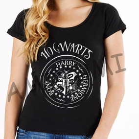 Camiseta Hogwarts Harry Potter Camisa Feminina 100 % Algodão