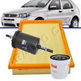 Filtro Ar Oleo Combustivel Palio Ex Fire 1.0 1.3 8v 2001...