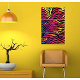 Cuadro Triptico Animal Print Rainbow Arcoiris 40x60cm Total