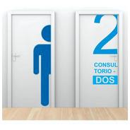 Vinilo Decorativo  Puerta Baño Box Consultorio Comercios120h