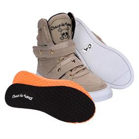 Tenis Botinha Sneakers Feminino Bota Fitness Academia Couro