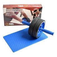 Sol Fitness Rueda Abdominal Doble  Desarmable Con Colchoneta