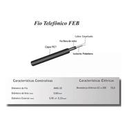 Kit 2 Rolos Cabo Fio Externo Telefônico Feb D65 400m Padrão