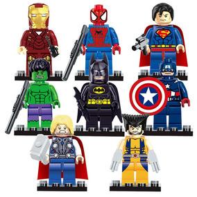 8 Lego Superman Batman Capitão América Homem De Ferro
