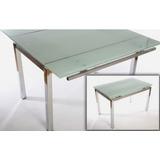Mesa De Vidrio Extensible Cuadrada Color, Calidad Premium