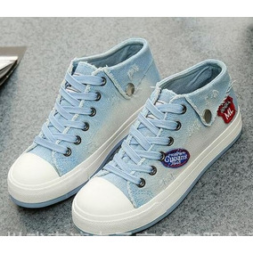 65853ccf470 Tenis Feminino Jeans Cano Baixo Importado - Frete Gratis
