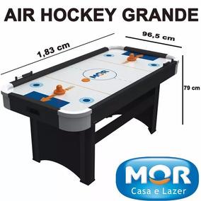 Jogo Mesa De Disco Air Hockey Rush Ideal Casa E Bares Mor