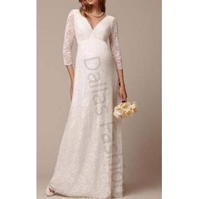 Vestido Em Renda Longo De Noiva, Gestante, Casamento