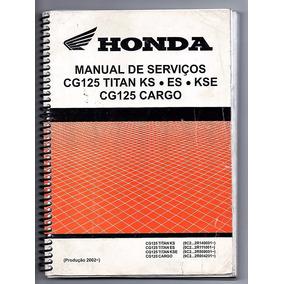 Manual De Serviço Honda Cg 125 Titan Ks Es Kse Cargo 2002