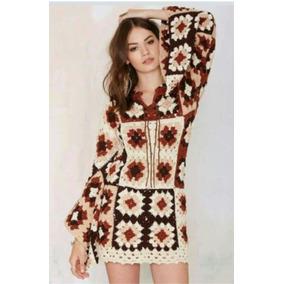 Vestido Mini Tejido Al Crochet