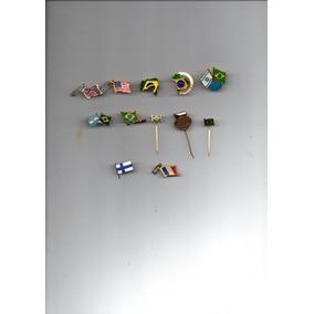Pins, Botins, Broches - 12 Diferentes -só Bandeiras