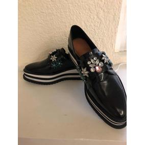 Zapatos Oxford Zara Mujer - Mocasines y Náuticos Negro en Mercado ... 75c9ef8396c