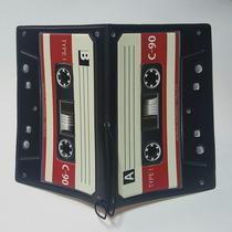Porta Pasaporte + Identificación Casette Vintage