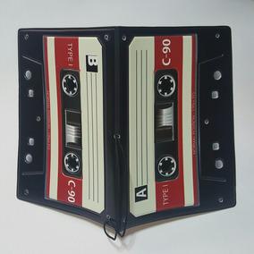 Porta Pasaporte + Identificació Casette Vintage Envio Gratis