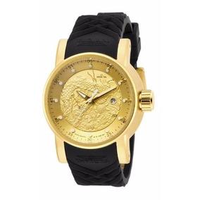 Relógio Invicta Yakuza 15863 Dourado Automatico Original Top