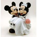Topo Bolo Noivos Mickey & Minnie Original Disney Parks