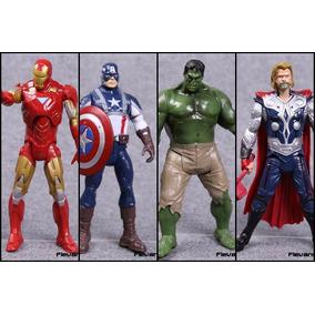 Vingadores Homem De Ferro, Capitão América, Thor, Hulk 20 Cm