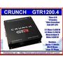 Amplificador Crunch Gtr1200.4 4 Canales Para Voz Y Woofer