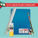 Kit Escolar Etiquetas Sticker Colegio Zombie Infection Escue