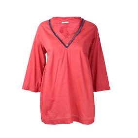 Blusa Matta Cuello-v Con Flecos (l Roja)