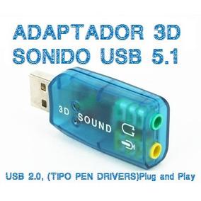 Adaptador Tarjeta De Sonido Audio Usb 2.0 Virtual 5.1 3d