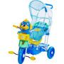 Triciclo Infantil Carrinho De Passeio Bebê Com Capota 2 Em 1