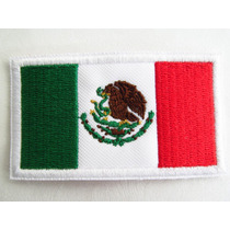 Bandera México Parche Adherible Pegalo Con Plancha Uniformes