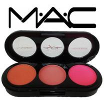 Rubor Mac Triple 3 Tonos Blush Maquillaje Tienda Chacao