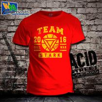Camiseta Capitão América - Team Stark