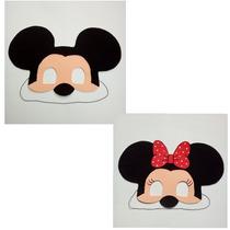 20 Mascaras Do Mickei Ou Minnei De Eva R$ 1,80 Cada.