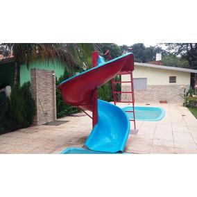 Escorregador Toboágua Para Piscina E Jardim