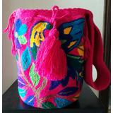 Mochila Wayuu Original Grande Tapizado Tejido Especial